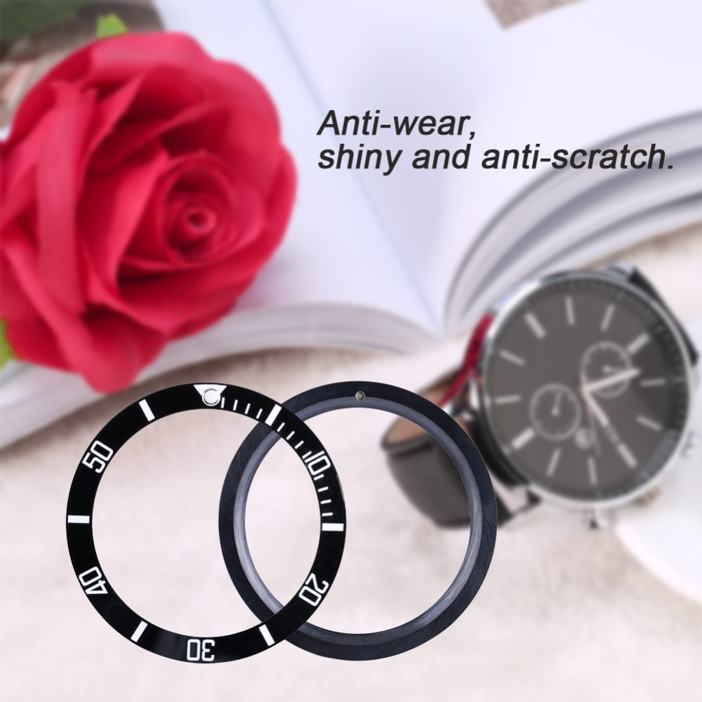 38 мм керамические часы, Безель, черный, синий, зеленый, легкие мужские часы, наручные часы, Безель, вставка, петля, запасные части, инструменты