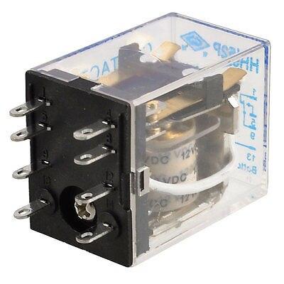 HH52P DC 12 V bobina de 8 pines de potencia realmente DPDT 5A 240 V AC/28 V DC envío gratis