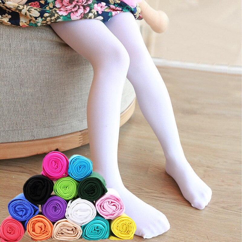 Leggings de verano mallas de Ballet para niñas medias delgadas largas elásticas para niñas 1-14 años