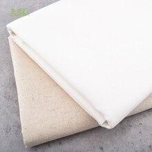 Chainho-tissu en lin et coton de 50x150   Série de couleur naturelle, pour le bricolage, le canapé et la couture, la nappe, la housse de meuble et le coussin