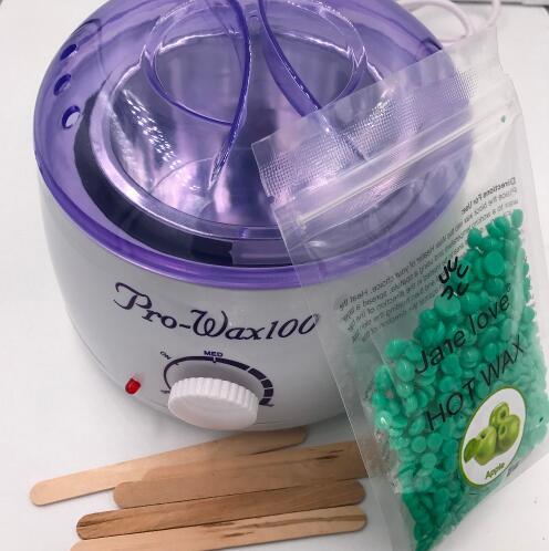 Epilator hair removal - Warmer Wax Heater +100Take off the edamame  + + 4 Waxing Spatulas Hair Removal Warmer Pot Machine Paraff