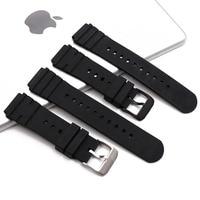 Pin buckle rubber strap men's watch accessories for Luminox Luminos 3000 3001 3100 3900 sports waterproof watch strap watch band