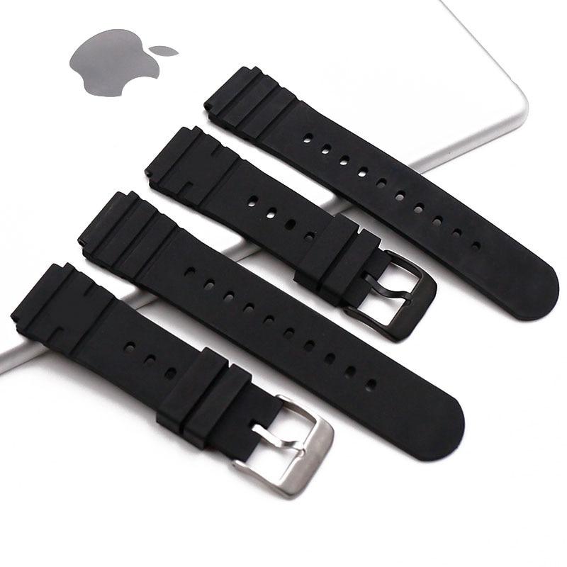 Pino fivela pulseira de borracha relógio masculino acessórios para luminox luminos 3000 3001 3100 3900 esportes à prova dwaterproof água pulseira relógio banda