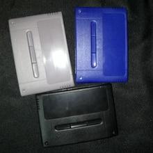 Coque en plastique de remplacement pour carte Console de jeu S N E S pour coque de carte de jeu 16 bits (Version EU/JP)