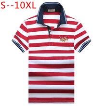 10XL haute qualité marque rayé chemise hommes Polo Ralp hommes chemises 2019 décontracté coton Camisa Polo Masculina respirant Polos Hombre