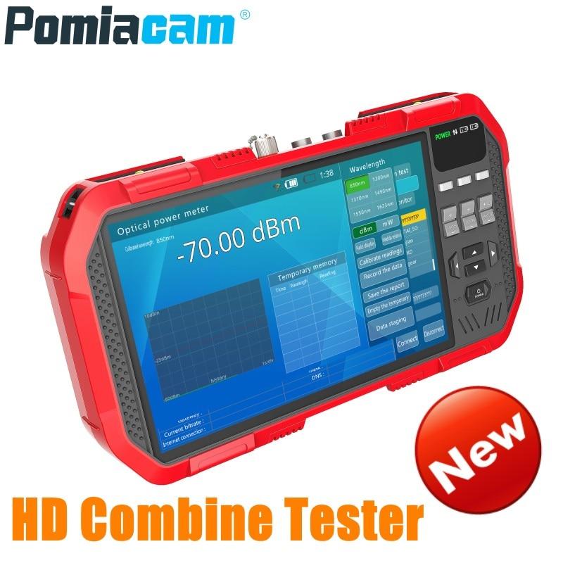Professional HD Combine Tester DT-A86 7 Inch H.265 4K IP camera tester 8MP TVI CVI 5MP AHD CVBS CCTV Tester Monitor Multimeter