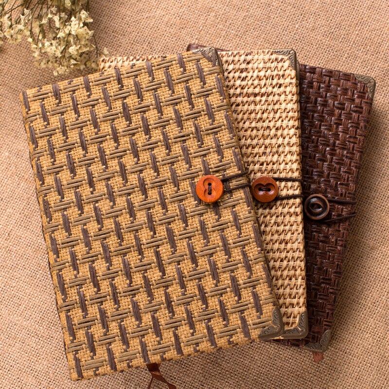 QSHOIC paja artes diario restaurando antiguo Bloc de notas papelería regalo negocios cuaderno innovación fiesta regalo Accesorios de escritorio