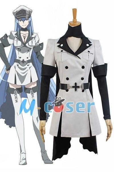 1 Set/lote Hot Anime Akame ga MATAR! Esdeath Império Geral Vestuário Roupa Uniforme Traje Cosplay