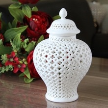 H38cm grand Vase chinois en porcelaine émaillée   Pot de TEMPLE en céramique/pot de gingembre décoratif, Vases de maison