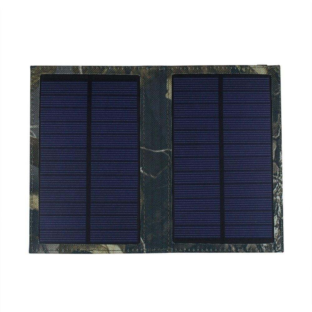 لوحة شمسية صغيرة قابلة للطي بقوة 3 وات ، شاحن بطارية للهاتف الخلوي ، iPhone ، Samsung ، Xiaomi ، HTC ، GPS ، IPX4 ، مقاوم للماء