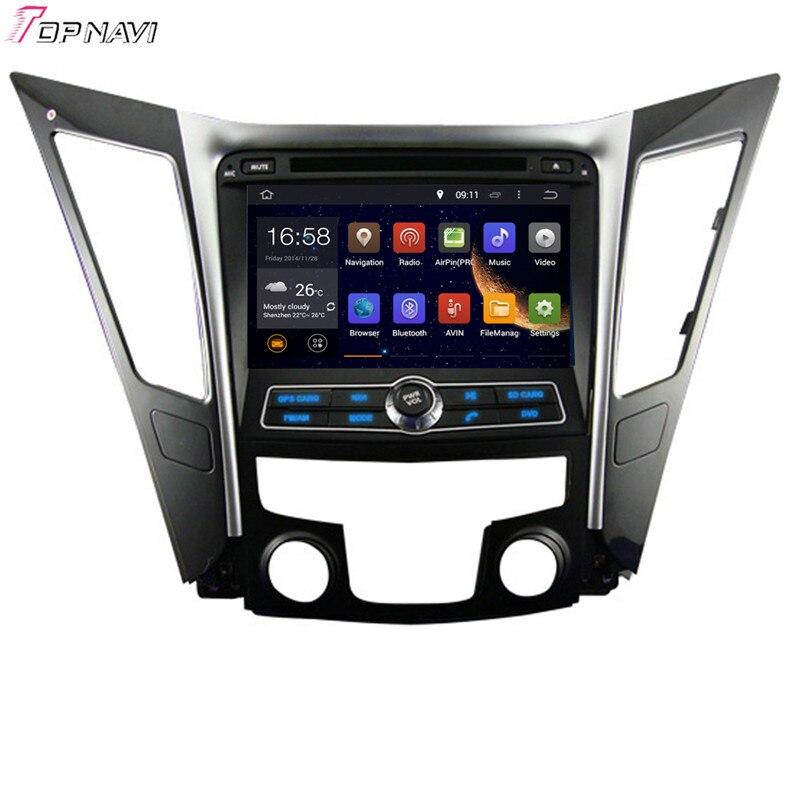 "TOPNAVI 8 ""Quad Core Android 6,0 GPS de navegación del coche para HYUNDAI SONATA I40 I45 I50 YF 2011-Coche DVD Multimedia estéreo de Audio"