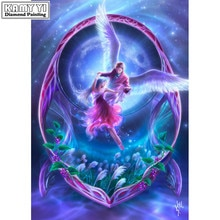 Full Square/Round 5D DIY diamond painting angel couple cross stitch set diamond embroidery mosaic decorative artwork  LK1