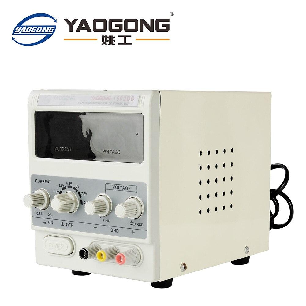 Yaogong 1502dd venda quente item 15 v 2a ac para dc fonte de alimentação corrente ajustável para o reparo do telefone móvel