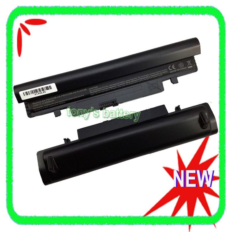 5200mah Laptop Battery For Samsung N143 N145 N148 N150 N250 N260 N250P N260P NP-N148 NP-N150 AA-PB2VC6B AA-PB2VC6W AA-PL2VC6B