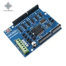 Panneau de protection pour Arduino 5 -12V   Module de pilote de moteur à double canal DC L298N L298P 4A, protection pour moteur Stepper, fonction Free Stop et frein