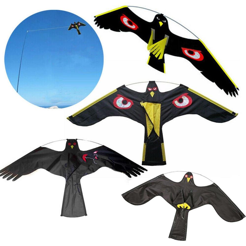 Black Flying Hawk Kite Bird Scarer For Garden Scarecrow Yard House Home Decor Hot sale
