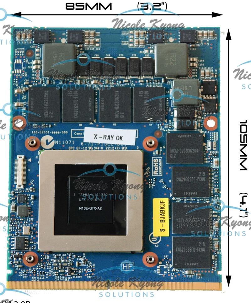 GTX 680M GTX680M 4G 6-77-P15EL-D21 VGA بطاقة الفيديو ل Clevo X511 P150EM X8100 P570WM P370EM P150EM P151EM P170EM