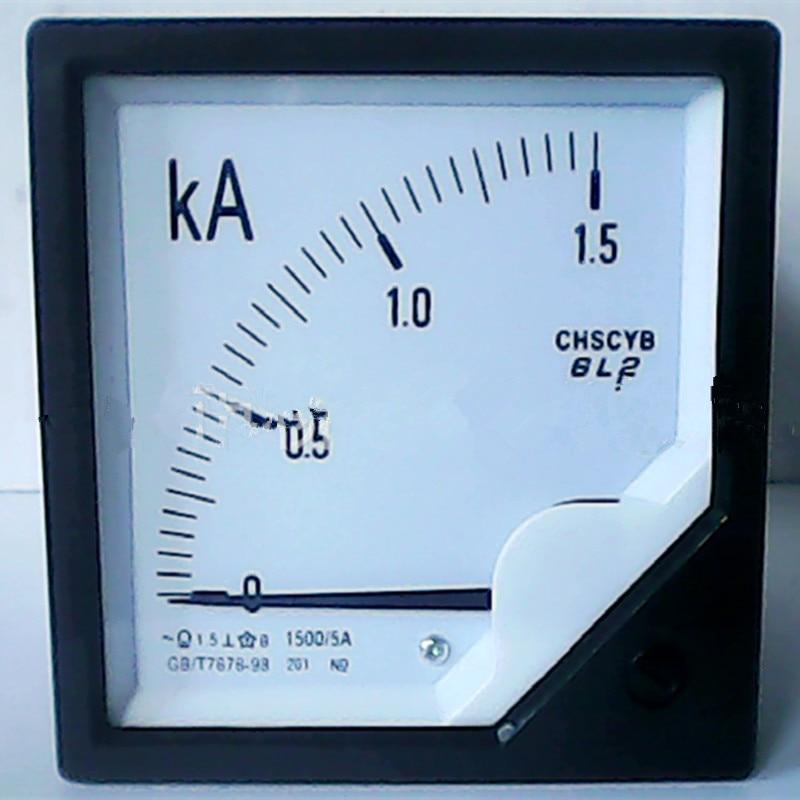 Puntero analógico amperímetro medidor de corriente monitor Panel de prueba 800A 1000A 1500A 2000A