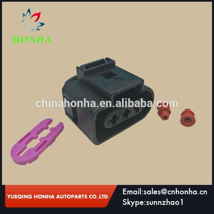 Envío Gratis 20/50/100 uds/lotes 3 Pin automóvil cable eléctrico cable conector de 3,5mm 1J0 973 723 1J0973723