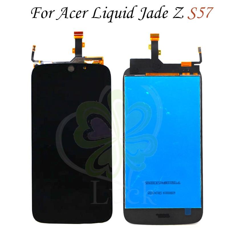 Para Acer Liquid Jade Z S57 pantalla LCD + montaje de pantalla táctil para Acer S57 digitalizador lcd herramientas libres