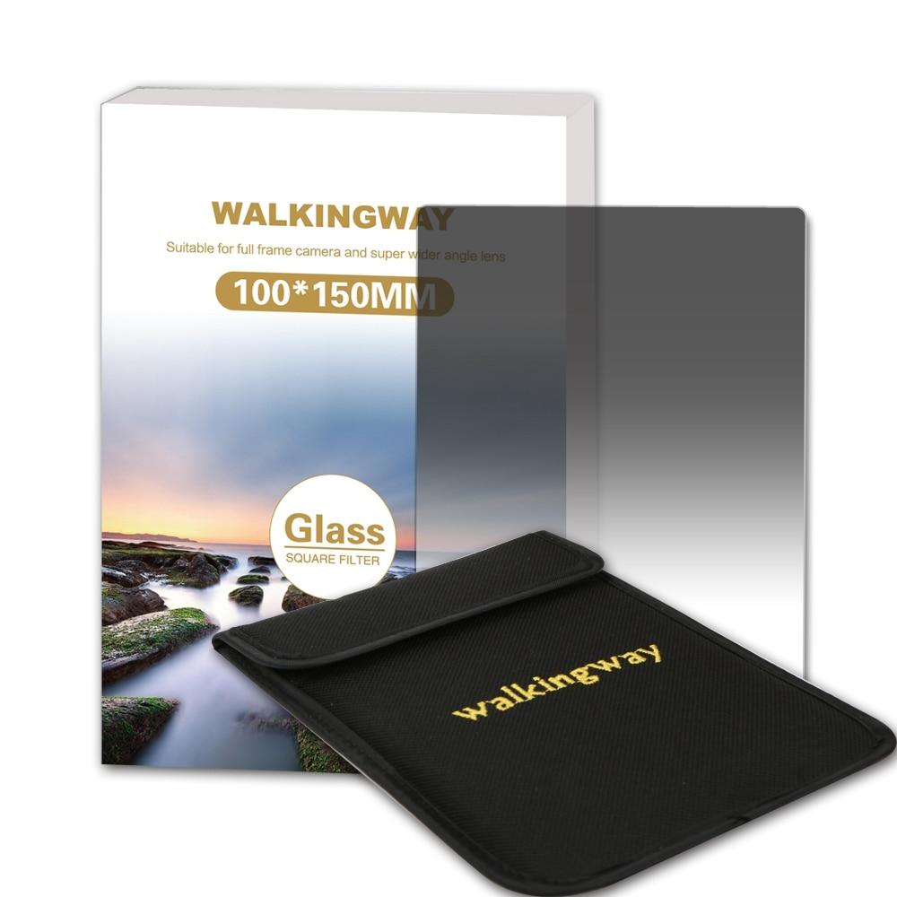 Walking Way 150*100mm Filtro ND Filtro graduado suave de vidrio óptico G. ND4 ND8 ND16 Filtro cuadrado de cámara para Zomei Cokin Z