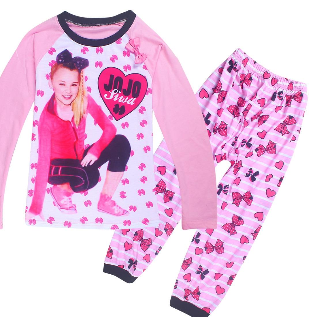 2018 verano niños Ropa Camisetas + Pantalones JO SIWA 2 uds conjuntos moda floral Bebé Deporte traje chicas chándal choches 4-10Y