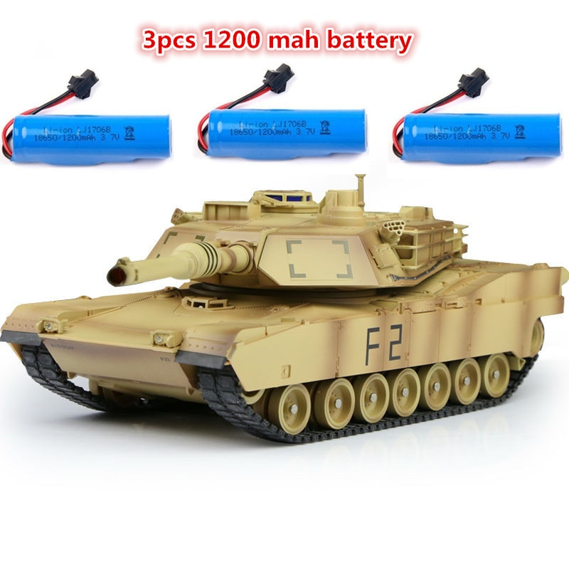 Remote Control RC Battle Tank Simulation recoil Military Tank 330 degree rotating turret 45 degree slope RC tank 2 color choose enlarge