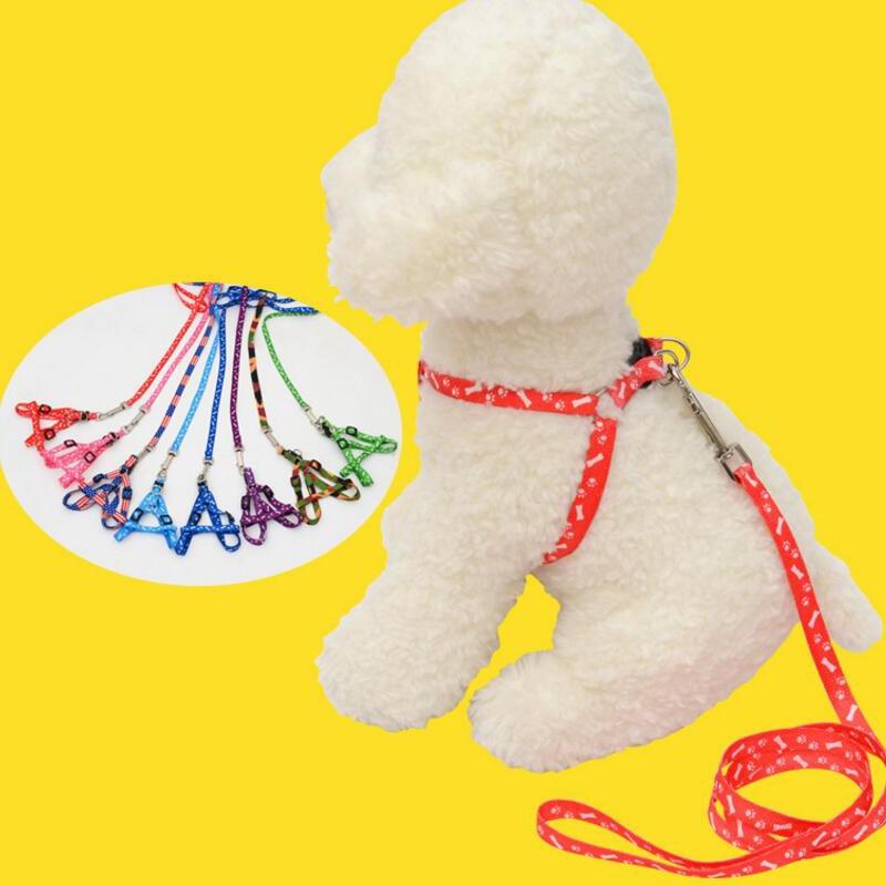 Регулируемый поводок для собак и кошек, цветной нейлоновый поводок, поводок для собак, безопасный поводок товары для животных, 1 шт.
