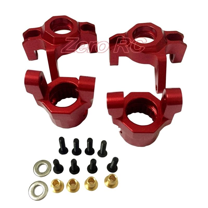 Nudillos delanteros de dirección de aluminio 1/10, piezas de bloque de dirección HD para AXIAL WRAITH