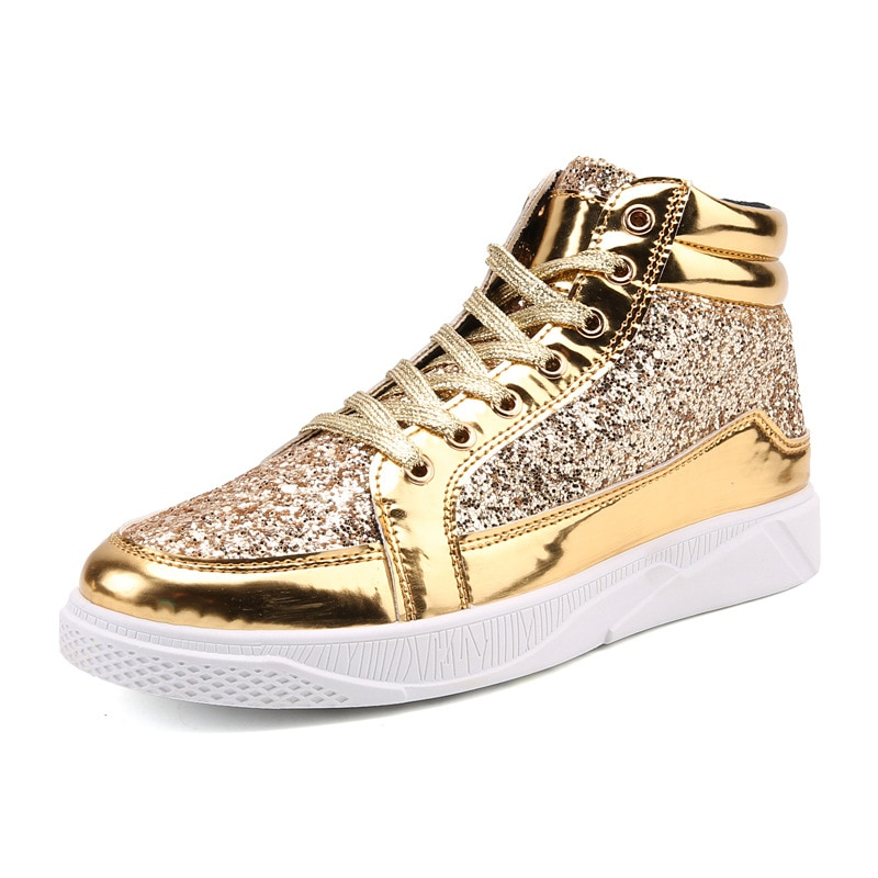 Fashion shoes for teenagers New Students Board Shoes Boys Sneakers Gold Shoes Trend Of Breathable Me