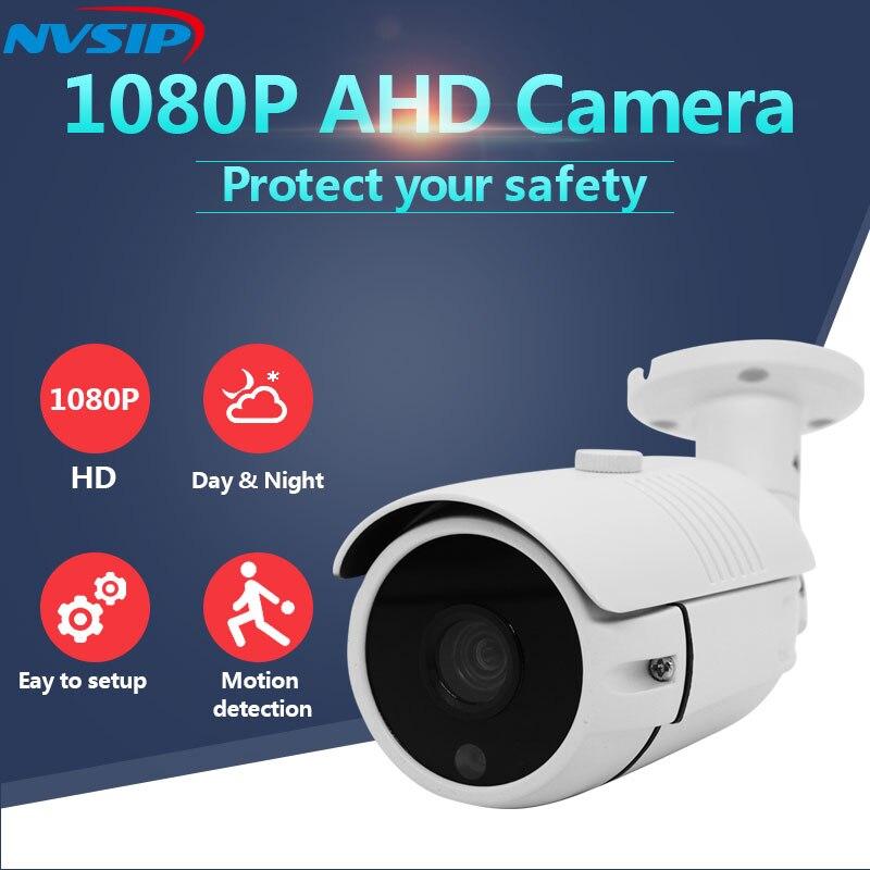 Cámara analógica AHD 2MP cámara de vigilancia infrarroja de alta definición 1080P CCTV cámaras de seguridad al aire libre a prueba de balas