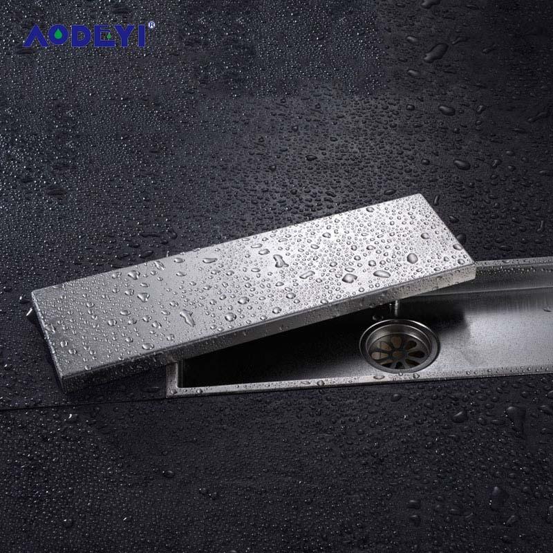 AODEYI 304, твердая нержавеющая сталь 300X110 мм, квадратный, с защитой от запаха, для слива пола, ванной комнаты, невидимый, для душа