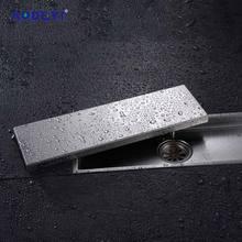 Aodeyi 304 Solide Roestvrij Staal 300X110 Mm Vierkante Anti-geur Afvoerputje Badkamer Onzichtbare Douche Afvoerputje