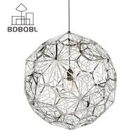 BDBQBL נורדי אמנות תליון אורות מודרני LED תליון מנורת יהלומי כדור השעיה מנורת Luminaire מתכת גופי תאורה זוהר