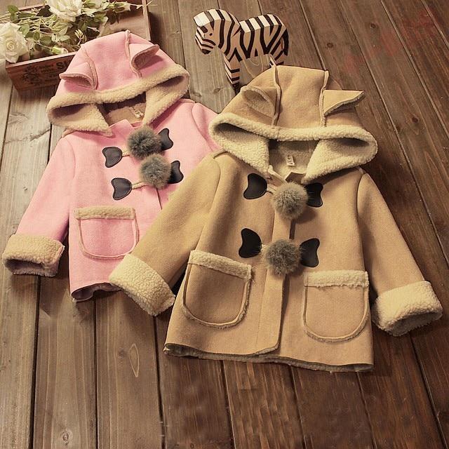 BibiCola, chaquetas de invierno para niñas pequeñas con sombrero para bebés, niños y recién nacidos, abrigo con pelo de tipo parka, chaqueta con capucha para bebé, parka, ropa infantil