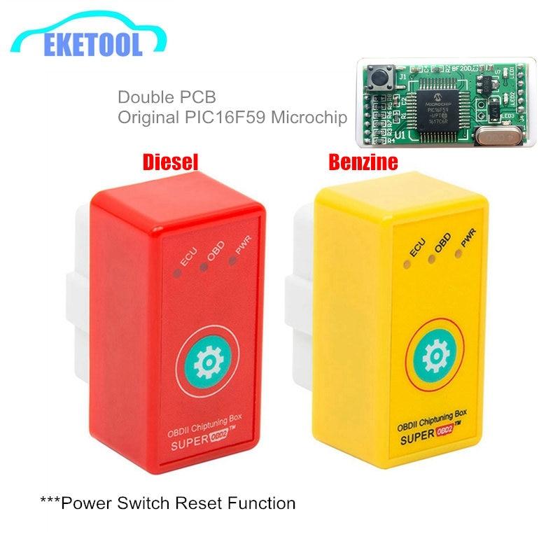 Super OBD2 caja de sintonización con chip ECU reiniciar la llave del coche SuperOBD2 ECU programador más potencia/más Torque Nueva Generación NitroOBD2 Nitro OBD2