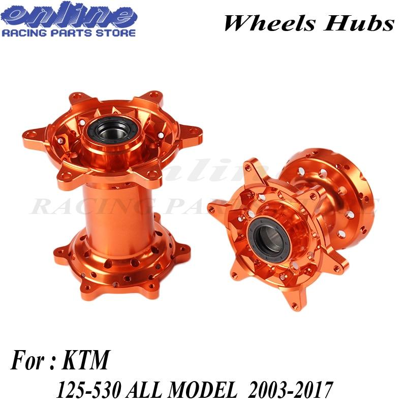 Palanquilla CNC de alta calidad, 36 agujeros naranja MX, conjunto de ruedas traseras delanteras, nuevo para moto de cross KTM 125-530 2003-2017