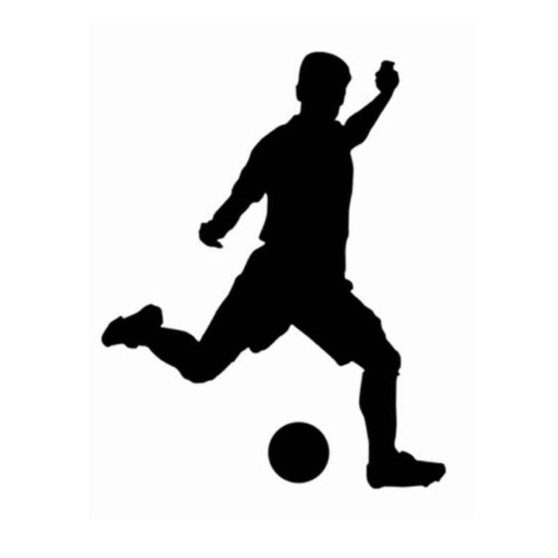 Pegatina de jugador de fútbol, decoración deportiva, cascos, decoración para habitación de niños, carteles de vinilo, calcomanía para coche, calcomanías para pared