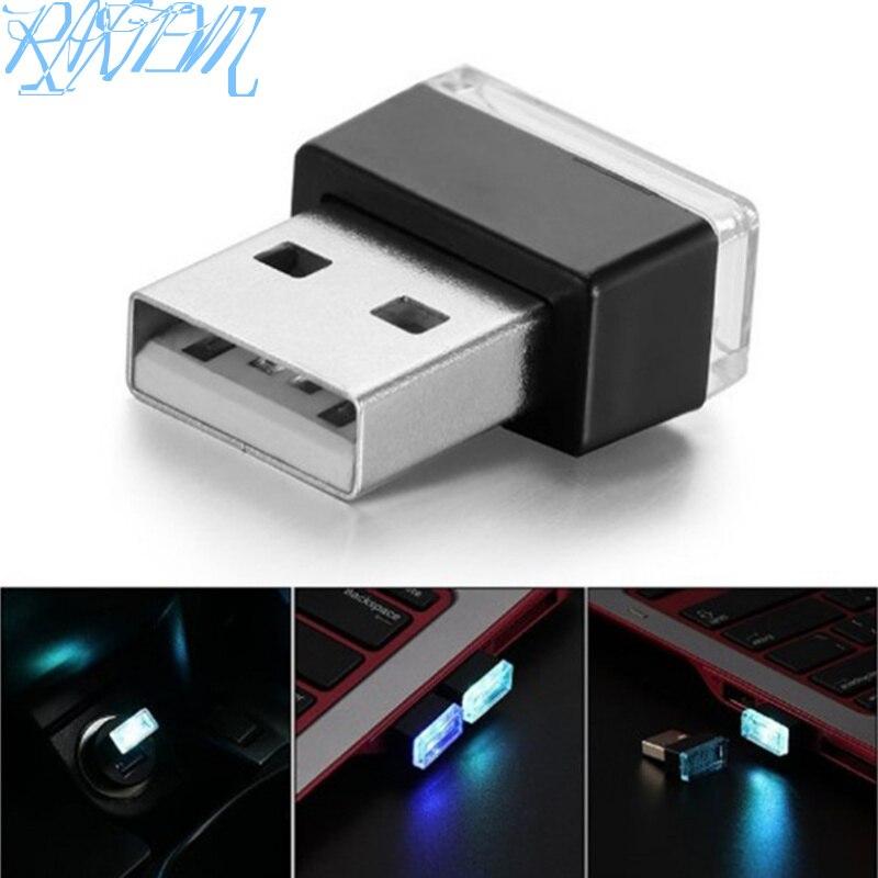 Estilo de coche USB atmósfera luz LED para lámpara para Subaru XV Forester Outback Legacy Impreza XV BRZ Tribeca