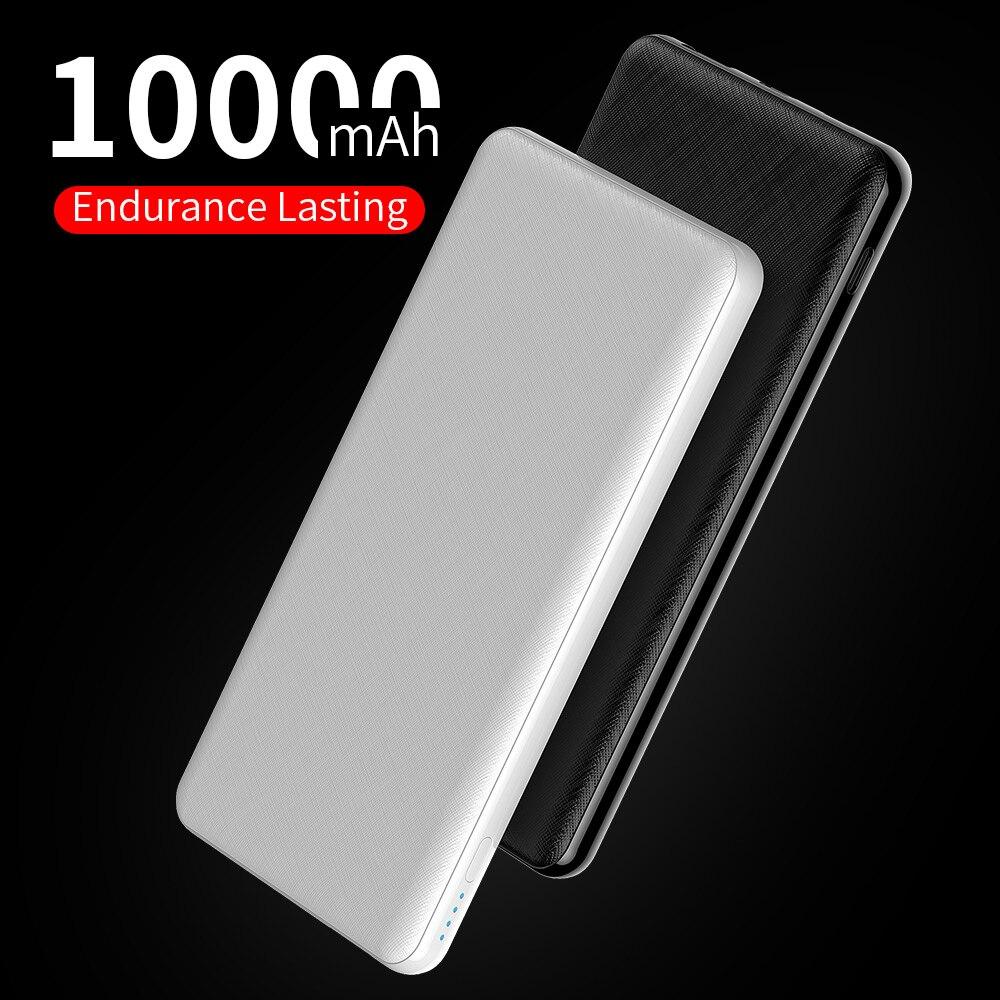PD 10000mAh batería externa portátil de carga Powerbank 10000 Slim Poverbank Paquete de batería externa cargador para Xiaomi iPhone