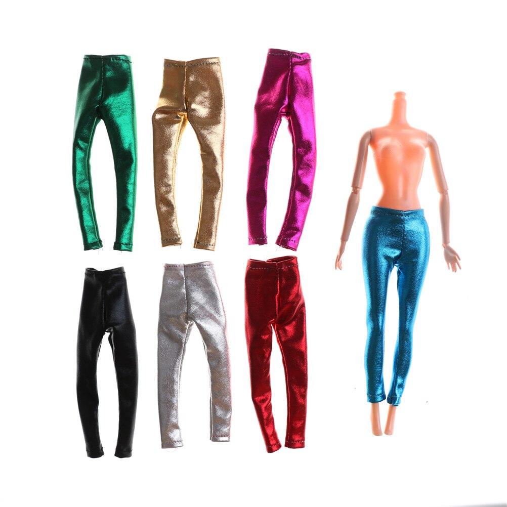 1 Pza moda Pantalones elásticos de cuero pantalones leggings de cuero para muñeca ropa conjunto para 1/6 accesorios de muñecas BJD