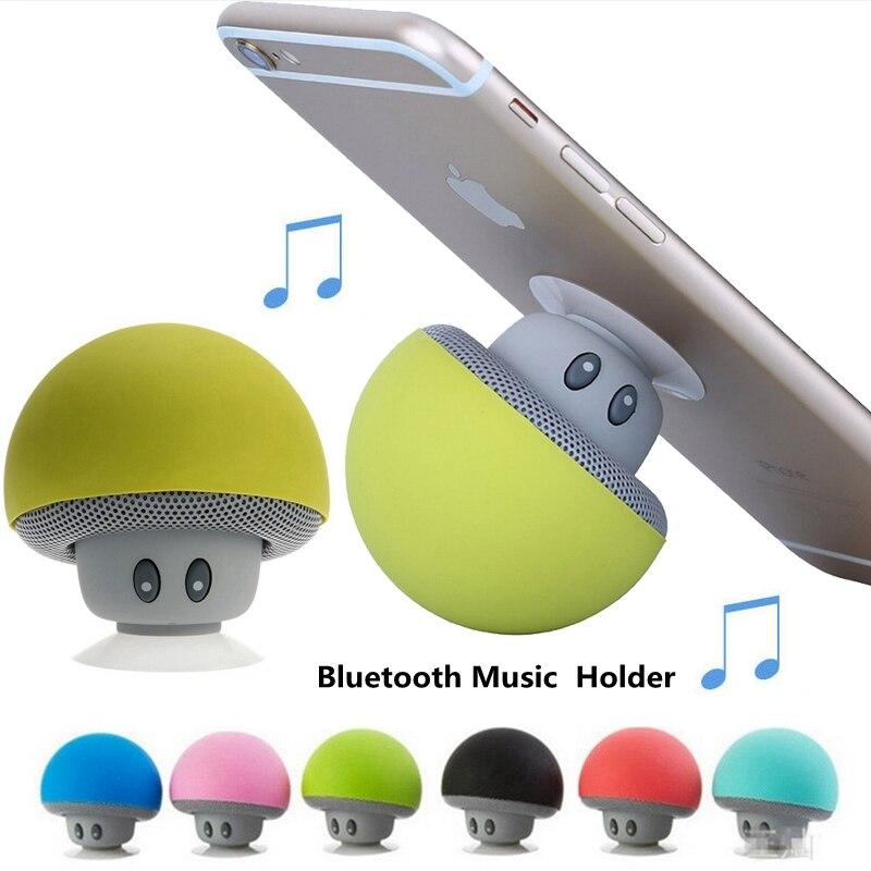 Altavoz Soporte, reproductor Mp3, Bluetooth, Soporte Musical para teléfono, Mini Soporte de hongo para Xiaomi, Soporte para iPhone Samsung