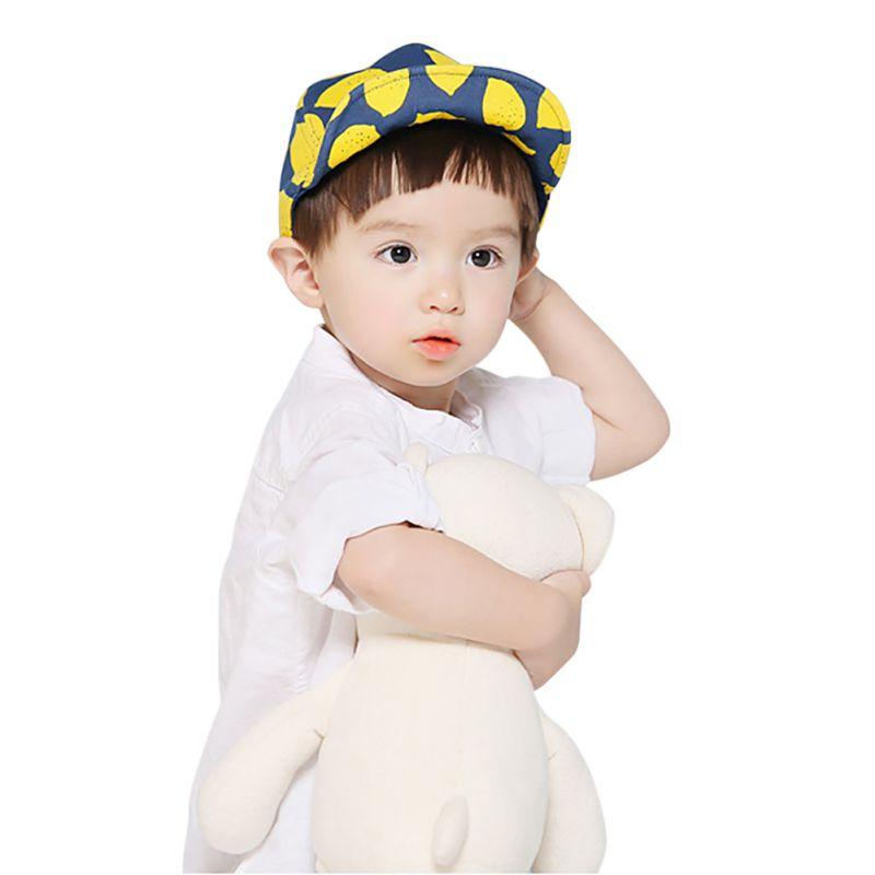 2018 chicas chicos con tapas de ala suave moda limón impreso sombreros nuevo verano lindos niños lindo sombrero de bebé 2 estilos protección contra el sol