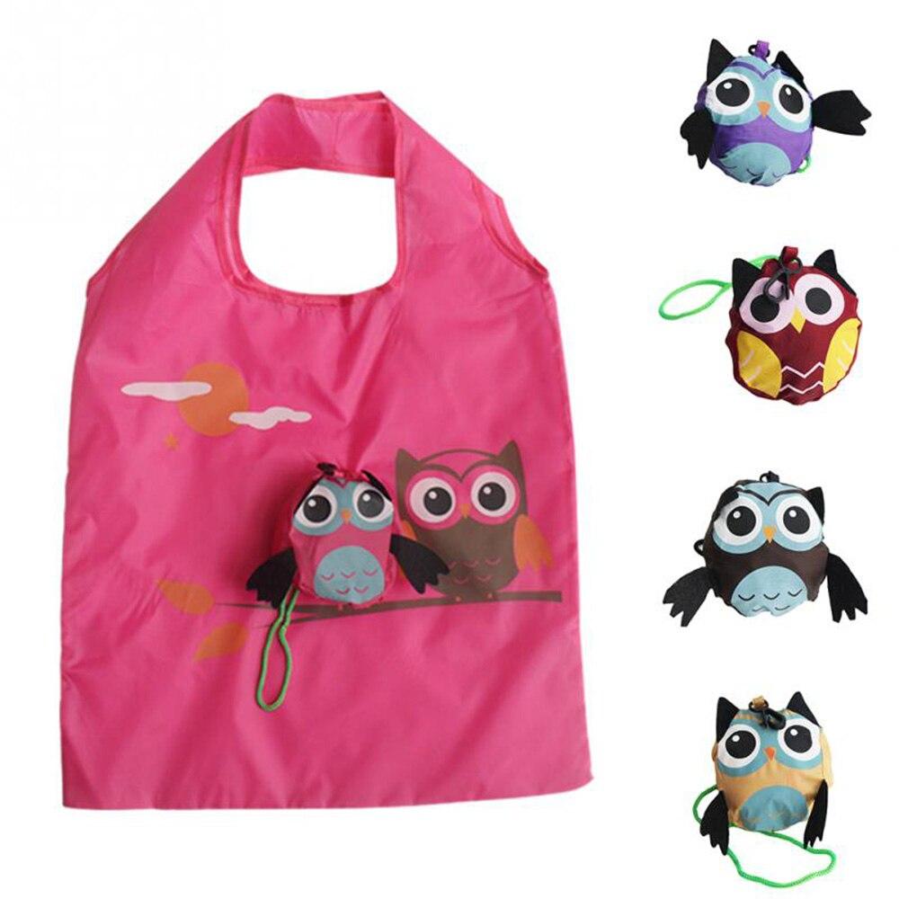Симпатичная форма Совы животные, складная сумка для шоппинга, подарок для девушек, складная многоразовая сумка-тоут, портативная дорожная сумка для хранения