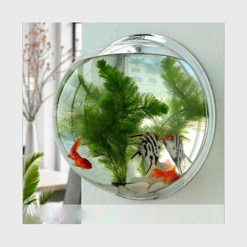 Высокое качество акриловая Рыбная миска настенное крепление аквариумный аквариум для рыб Водные товары для домашних животных Товары для д...