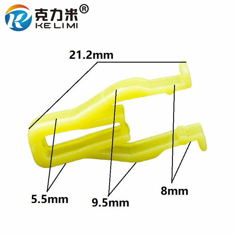 KE LI MI 100 piezas tablero de instrumentos automático Clips tipo U retenedores para Hyundai Universal panel de instrumentos de plástico amarillo sujetadores