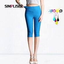 SIMPLISER Capri Pantalon Femme 2018 été Stretch crayon Pantalon longueur mollet Femme Pantalon Slim Leggings Femme Pantalon grande taille