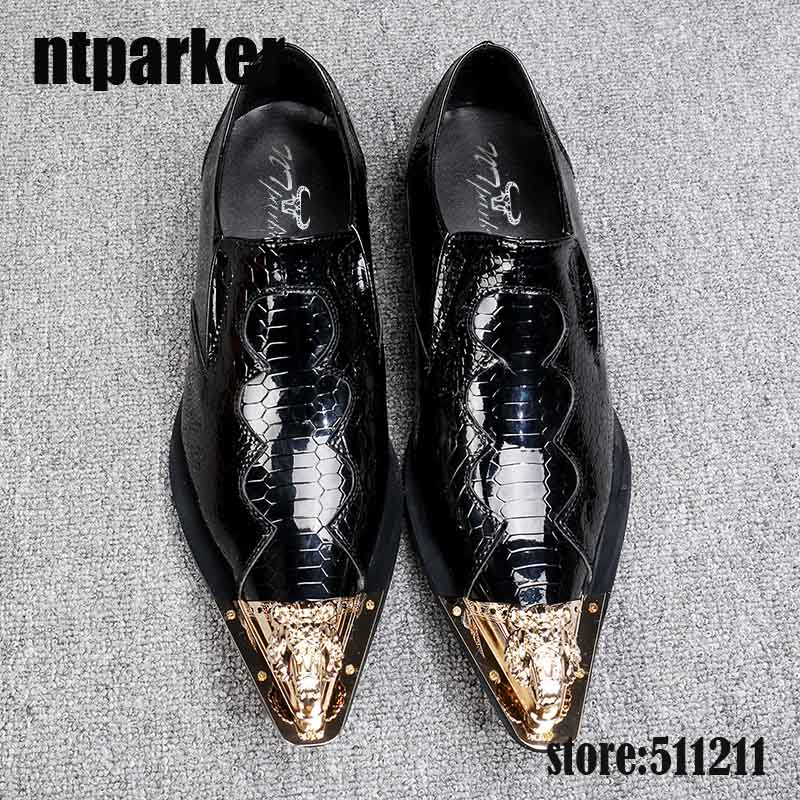 Ntparker/мужские туфли в английском стиле; Модельные туфли на высокой платформе в итальянском стиле; Мужские туфли из натуральной кожи для свадебного танца; EU38-46