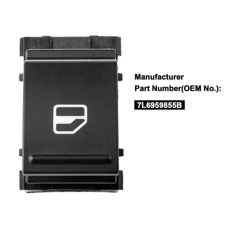 3 pines interruptor para ventana eléctrica para V W Golf MK5 MK6 J * etta Passat Touran Tiguan Polo Seat 7L6959855B