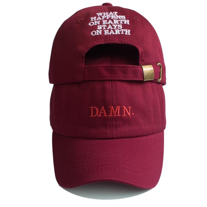 Унисекс, весна-лето, чёрные шляпы, вышитые, земля, папа, шляпа, хип-хоп кепка, Кендрик Ламар, рэппер, бейсболка, оптовая продажа